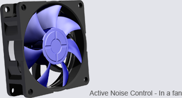 Active Noise Control - In a fan